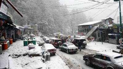 Snowfall continues in Gilgit and other parts of area