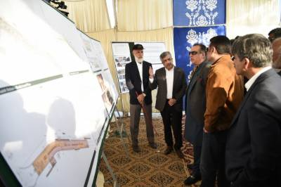 Sindh Governor visits Green Line Bus project