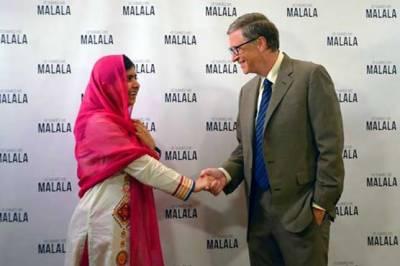 Microsoft founder Bill Gates congratulated Pakistani Nobel Laureate Malala Yousafzai