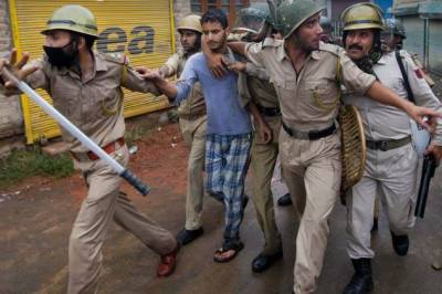 Indian police arrested seven youth during cordon, search operations in Shopian