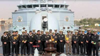 Pakistan Navy Ships given warn welcome at Iranian Port