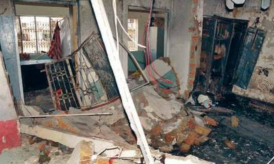 One of a family member injured in Rawalpindi gas explosion