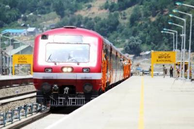 Train service suspended in south of Indian Occupied Kashmir