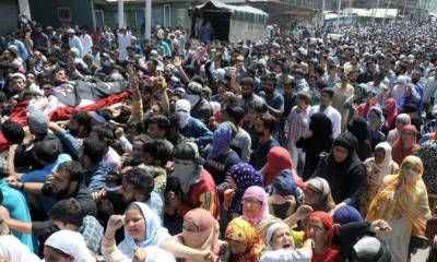 Multiple funerals held for two martyred youth in IOK