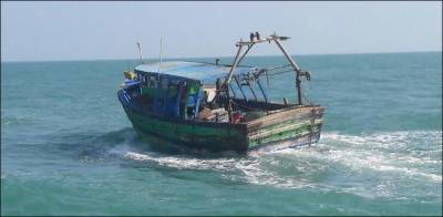 Indian maritime security forces arrested four Pakistani fishermen along with vessel