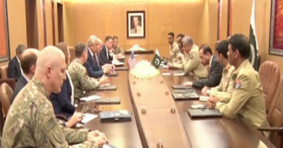 Top US civil and military command meet COAS General Bajwa in GHQ