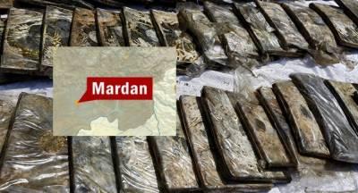 Mardan police recover 100kg hashish