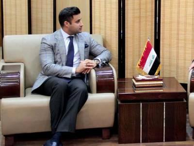 Zulfi Bukhari, Iraqi President discuss ways, means to further strengthen bilateral cooperation