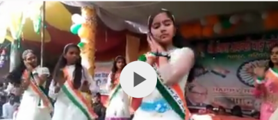 Indian School girls caught performing on Indian Republic Day on Pakistan Military released song