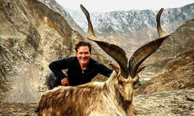 American citizen makes most expensive Markhor Hunt ever in the history of Gilgit