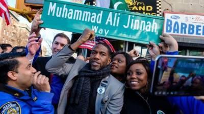 Making history, Muhammad Ali Jinnah Way' inaugurated after renaming major avenue in Brooklyn, New York