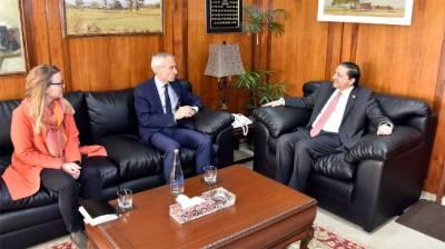 Mandviwala, Swiss Ambassador exchange views on ways to improve bilateral relations