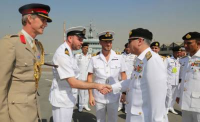 AMAN 2019: Pakistan Navy Chief visits Foreign Navy Ships