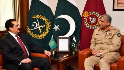 Commander Islamic Military Alliance calls on COAS General Bajwa at GHQ