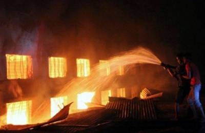 Cotton factory gutted in Karachi fire