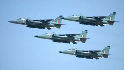 Indian Air Force Fighter Jet crashes at Pokhran