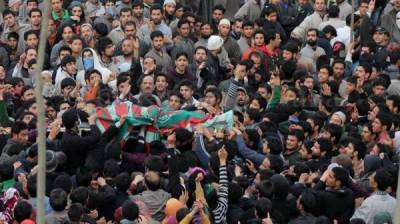 Indian troops martyr one Kashmiri youth in IOK