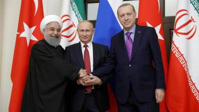 Trilateral summit of Turkey, Russia and Iranian leaders on Syrian Crisis begin in Russia