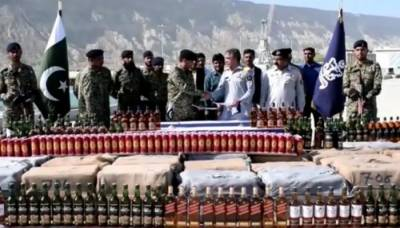 Pakistan Navy seize huge consignment of liquor bottles worth Rs 2 crore from Ormara Coast