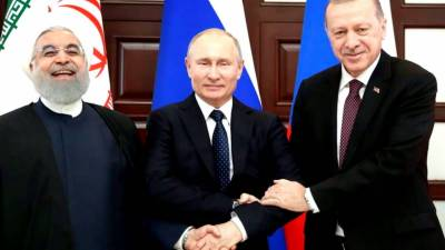 Russia, Turkey and Iran agree to closely coordinate to resolve Syrian crisis