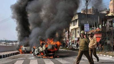 Forceful demonstrations across Occupied Kashmir against attack on Muslims by Hindu fanatics