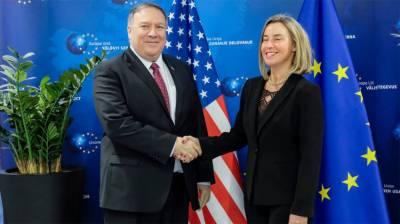 Pompeo meets EU's top diplomat
