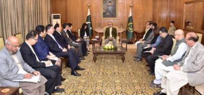 President calls for further enhancing cooperation between Pakistan & China