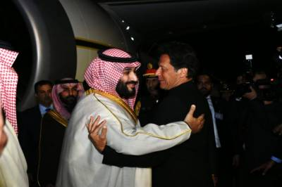 PM Imran Khan and Saudi Crown Prince hold one on one meeting at Nur Khan Airbase