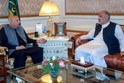 Speaker NA meets Governor Punjab