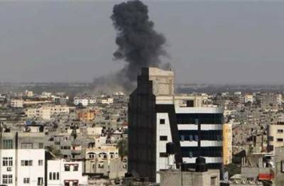 Israel targeted Hamas installations in an airstrike in Southern Gaza Strip