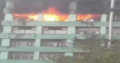 Fire erupts at building that houses several important govt offices in Delhi