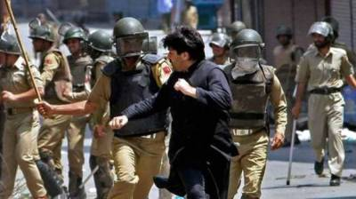 Occupied Kashmir: Indian troops in fresh act of state terrorism martyr two youth