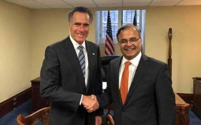 Pak envoy briefs US senator on regional situation