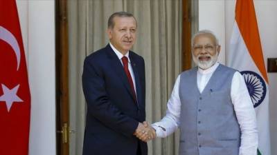 Turkish President Tayyip Erdogan holds important phone call with Indian PM Modi, discuss Indo Pak border tensions