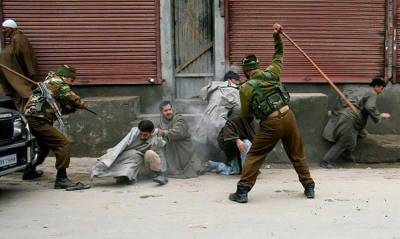 Indian troops fired bullets, pellets and teargas shells on protesters in IOK
