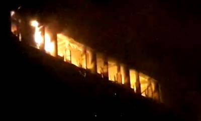Fire erupts inside FTC building on Shara e Faisal