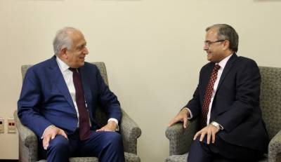 US top envoy Zalmay Khalilzad held meeting with Pakistani Ambassador in Washington
