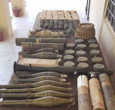 Huge cache of heavy arms and ammunition recovered by security forces