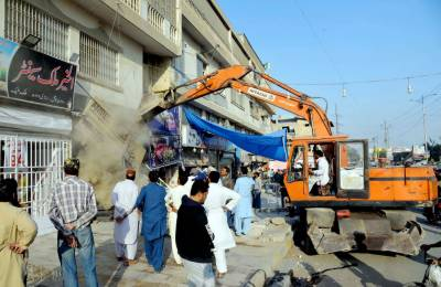 Hundreds of illegal structures demolished in E-12 operation