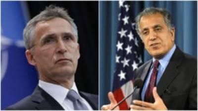 Zalmay Khalilzad, Jens Stoltenberg discuss Afghan peace process
