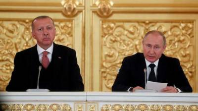 Turkish President meets Russian President in Moscow