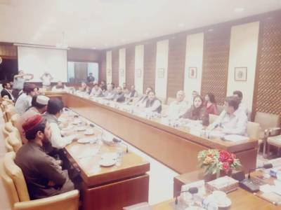 High level Senate Committee engages with PTM leader Manzoor Pashteen, Mohsin Dawar