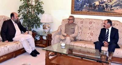 Governor, CM Balochistan meet president