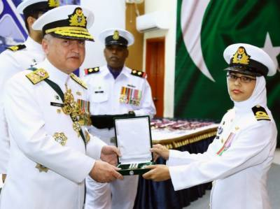 Pakistan Navy officers conferred with military awards
