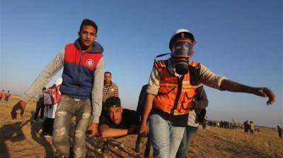 Israeli soldiers injured 48 Palestinians during clashes in Gaza