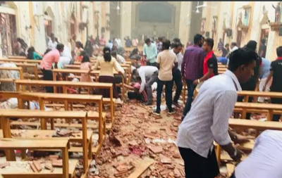 How many Pakistanis have been hit in Srilanka churches bombings?