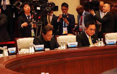 PM Imran Khan addresses Leader's Roundtable session in Beijing