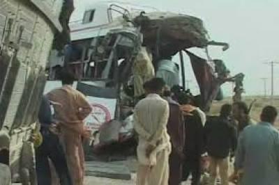 15 injured in Jamshoro coach-car collision