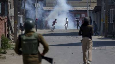 Clashes erupt in Indian Occupied Kashmir, train services suspended