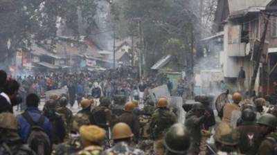People overwhelmingly boycotted 4th phase of sham Indian Parliamentary elections in Kulgam District